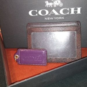 Coach wallet and coach keychain